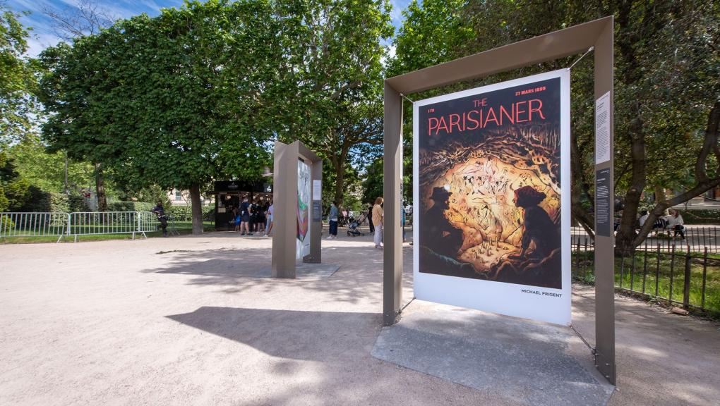 """Illustration : Michael Prigent, Affaire de famille. Exposition """"The Parisianer. Chroniques du Muséum"""" © 10000 lux"""