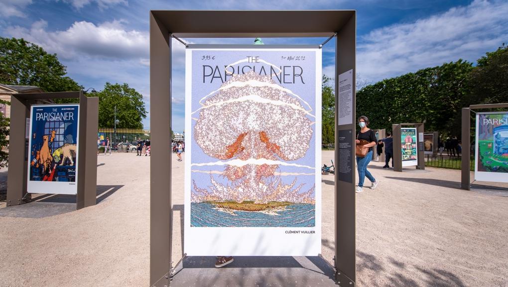 """Illustrations : Clément Vuillier, Une 6e crise ? Dugudus, L'art de la taxidermie. Exposition """"The Parisianer. Chroniques du Muséum"""" © 10000 lux"""