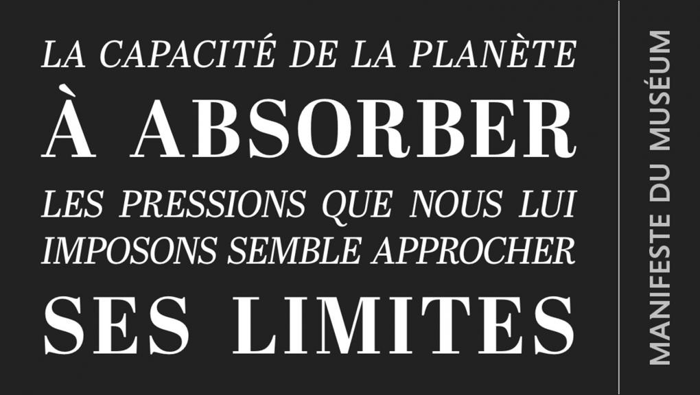 Manifeste 4. Face aux limites © MNHN