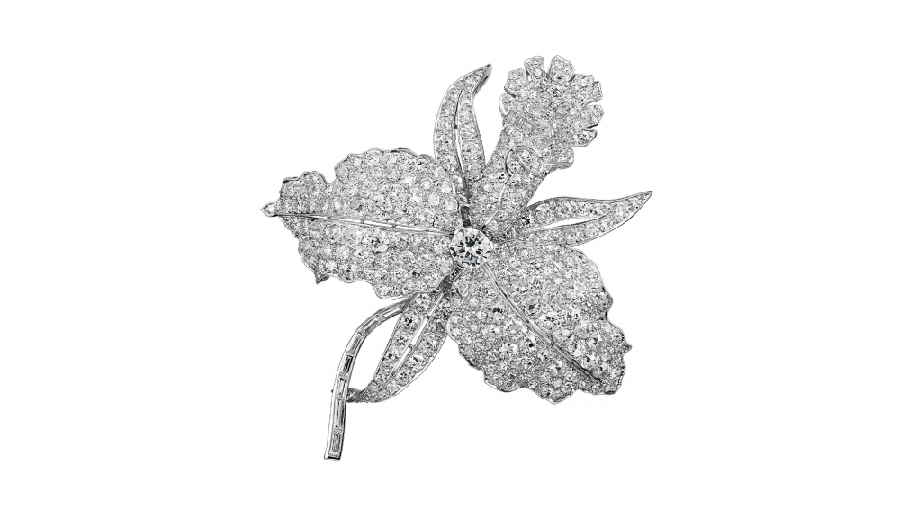 Clip Orchidées, 1927, Platine, diamants, Collection Van Cleef & Arpels © Van Cleef & Arpels SA
