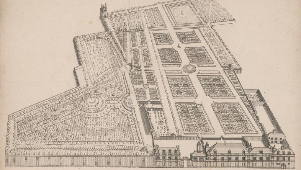 Plan du Jardin des Plantes à son origine © MNHN - Direction des Bibliothèques