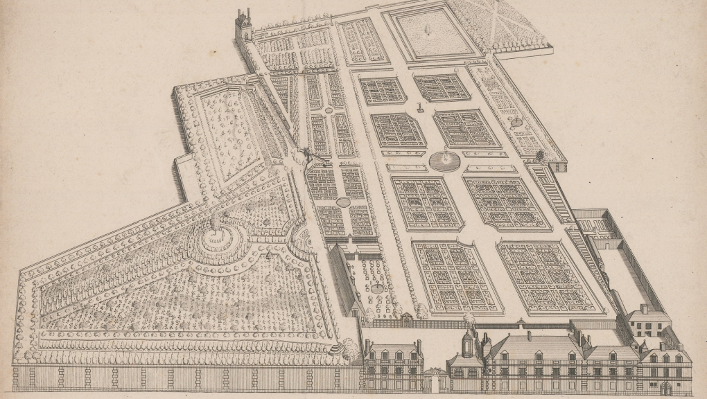 Plan of the Jardin des Plantes (Garden of Plants) in the early days © MNHN - Direction des Bibliothèques