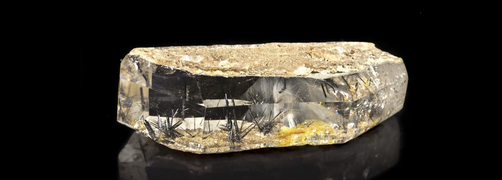 Quartz à rutile noir © MNHN - F. Farges