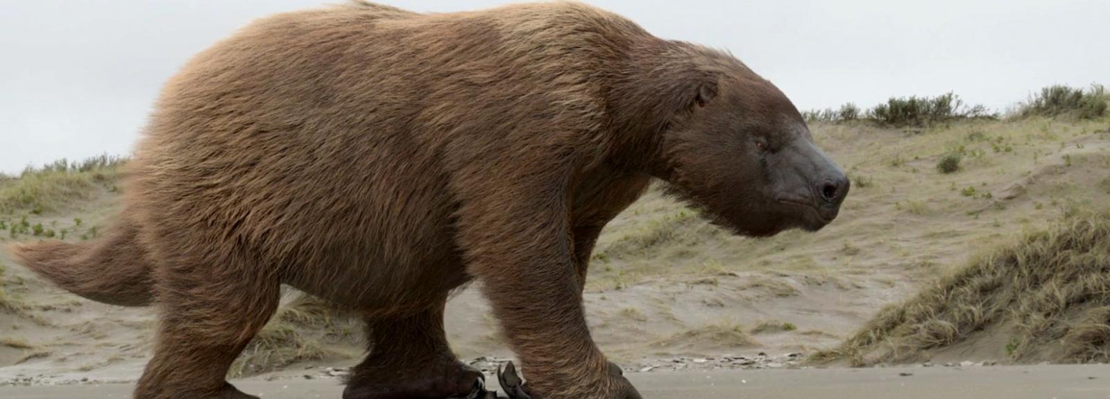 Megatherium présenté dans Géants disparus VR © French Connection Films