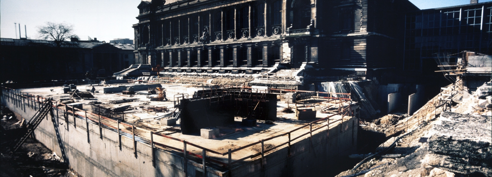 Construction of the zoothèque in 1981 © MNHN - Bernard Faye