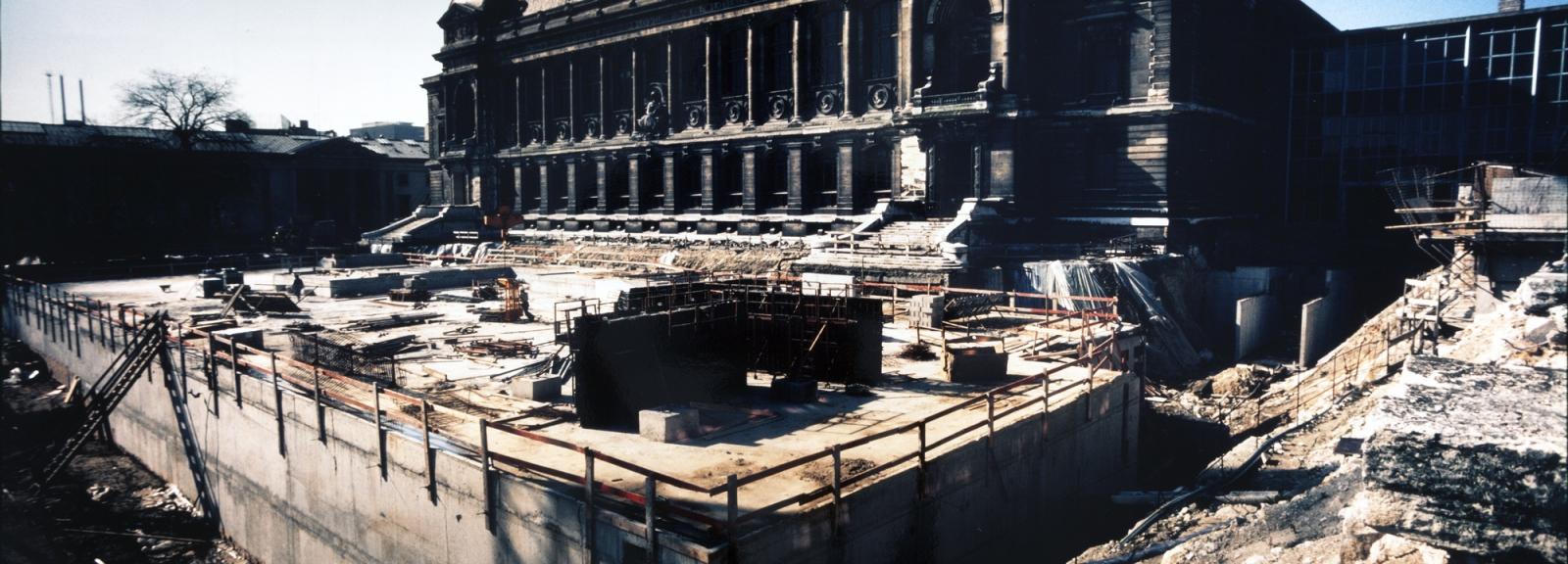Construction de la zoothèque en 1981 © MNHN - Bernard Faye