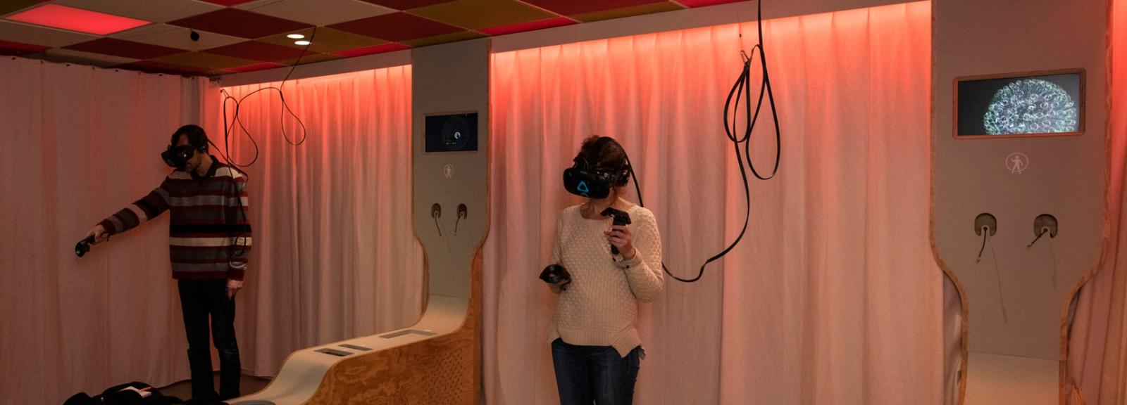 Cabinet de Réalité Virtuelle © MNHN – Agnès Iatzoura