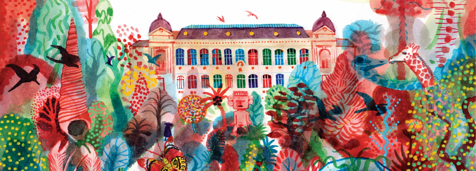 Brecht Evens, Chroniques du Muséum (détail) © Muséum national d'Histoire naturelle / The Parisianer, 2021. Tous droits réservés.