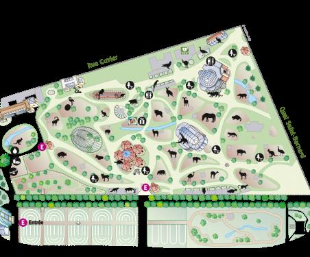 Plan-parcours Ménagerie 2019 - avec pictos © MNHN
