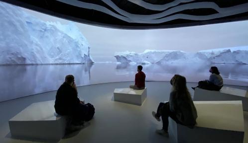 """Évasion au grand Nord - exposition """"L'Odyssée sensorielle"""" © MNHN - J.-C. Domenech"""