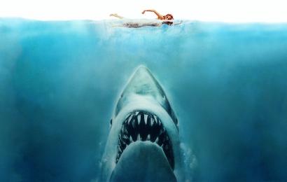 Les dents de la mer, détail de l'affiche du film © S. Spielberg