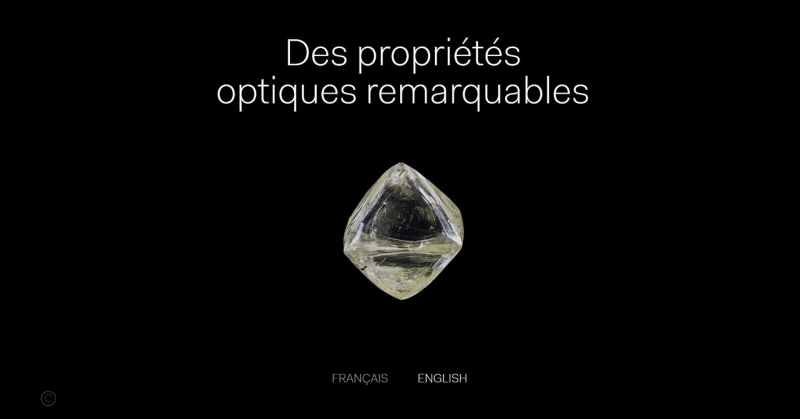 Diamant : des propriétés optiques remarquables © Alpha Studio