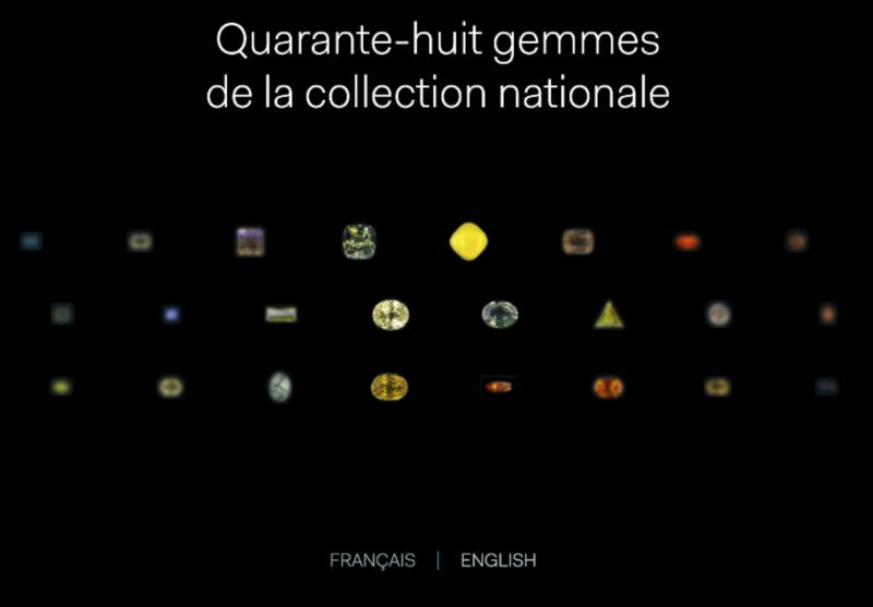 Gemmes de la collection nationale - Multimédia © MNHN - Alpha Studio