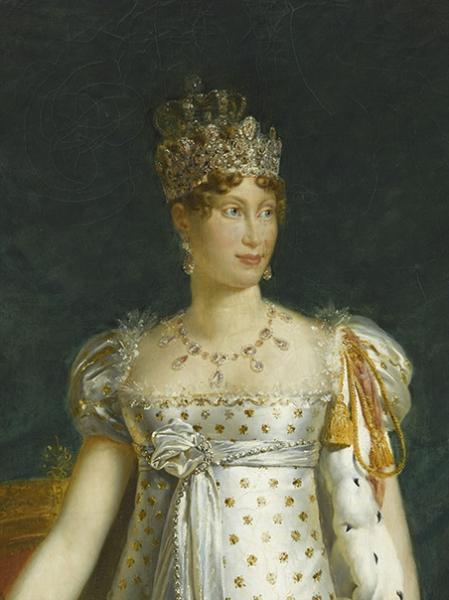 Grande Parure de Topazes roses de l'Impératrice Marie-Louise. Peinture de P. Guérin d'après Gérard © RMN-Grand Palais G. Blot