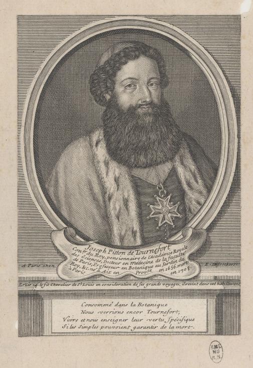 E. Desrochers, Joseph Pitton de Tournefort, XVIIIe siècle © Muséum national d'Histoire naturelle