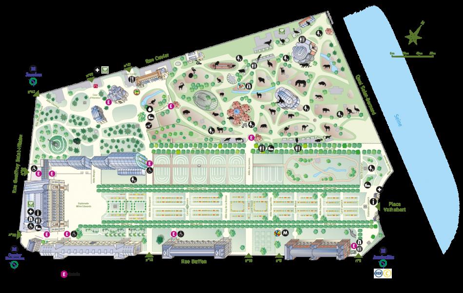 Galeries, Jardins, Zoo - Jardin des Plantes