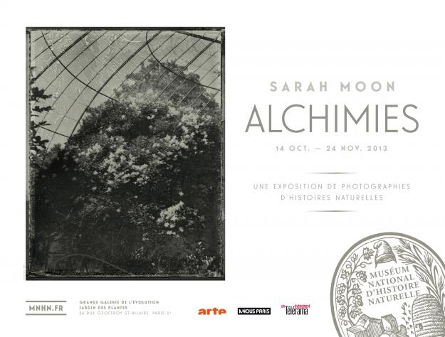 Affiche de l'exposition Alchimies - Clichés de Sarah Moon © MNHN