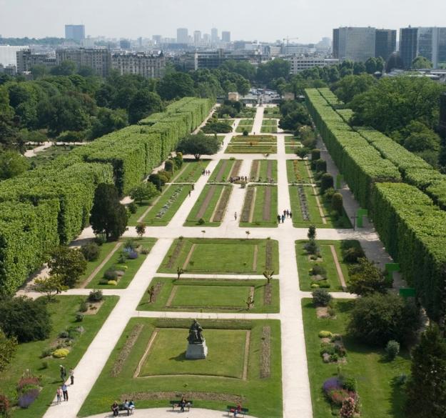 Les carrés de la perspective du Jardin des Plantes © MNHN – Patrick Lafaite