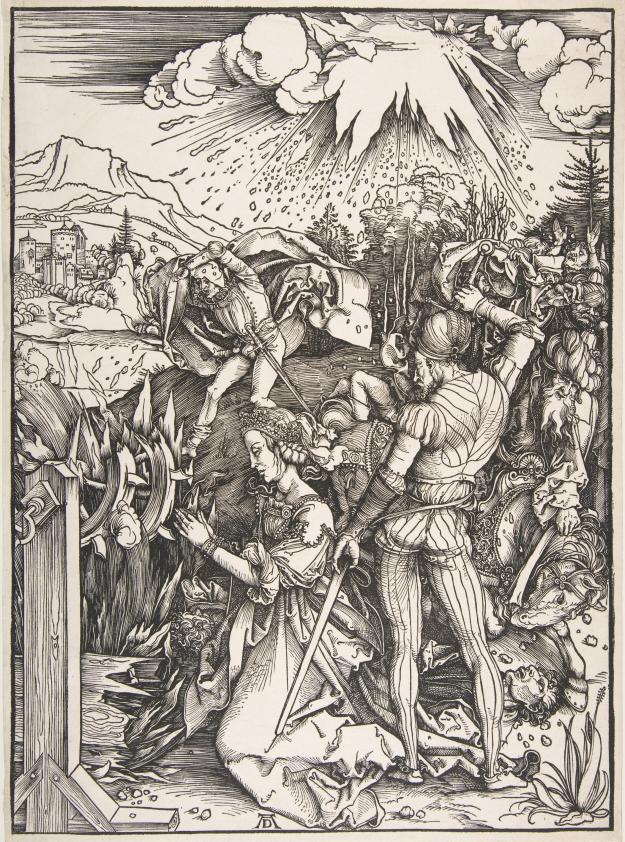 Gravure de Albrecht Dürer (1471-1528), peintre graveur de la Renaissance allemande © CC0