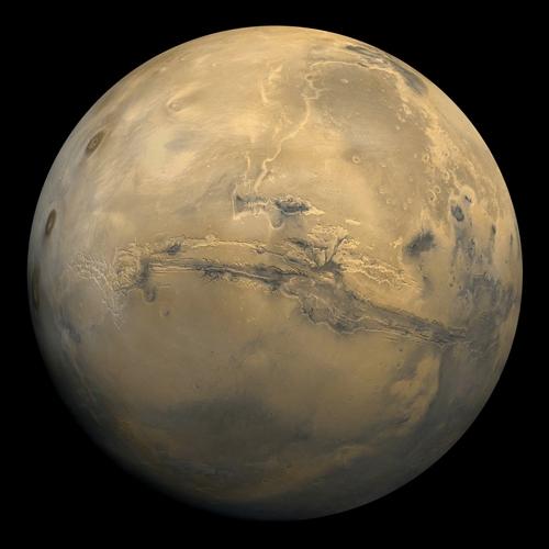 Assemblage de 102 images de Mars prises en orbite 1,334, 22 février 1980 (Viking 1 Orbiter, MG07S078-334SP) © NASA