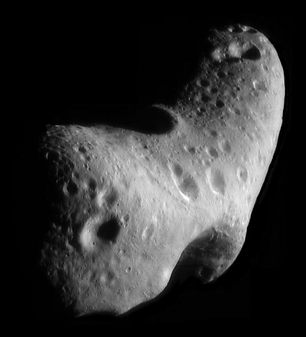 Astéroïde Eros. Plus grande dimension 33 km. © NASA/JPL/JHUAPL
